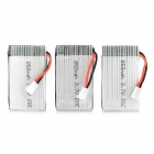 Replacement 850mAh 3.7v 20c Batteries for R/C Model - White (3 PCS)