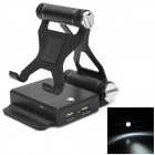 6000mAh Mobile Power Bank w/ Stand + LED Flashlight for iPhone + iPad + Samsung - Black