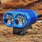 YINDING YD-2XU2 2 x CREE XM-L U2 1200lm 4-Mode White Bicycle Headlamp - Blue (4 x 18650)
