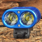 YINDING YD-2XU2 1200lm 4-Mode Bike Headlamp w/ 2*CREE XM-L U2 - Blue
