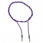 Woven Rope 3.5mm Audio Male to Male Connection Cable - Purple (102cm)