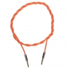 Woven Rope 3.5mm Audio Male to Male Connection Cable - Orange (102cm)