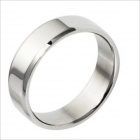 GJ253 Smooth Elegant Titanium Steel Men's Ring - Silver (US Size 9)