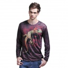 XINGLONG 3D Animal Pattern Long-Sleeve T-Shirt for Men - Multicolored (Size-L)