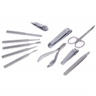 JDM CY-A41 11-in-1 Stainless Steel Nail Care Manicure Set - Silver