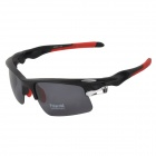 CARSHIRO 9058 Cycling Polarized UV400 Protection Sunglasses Goggles - Black + Red