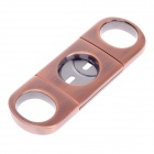 Unique Stainless Steel Cigar Cutter Knife - Copper + Silver
