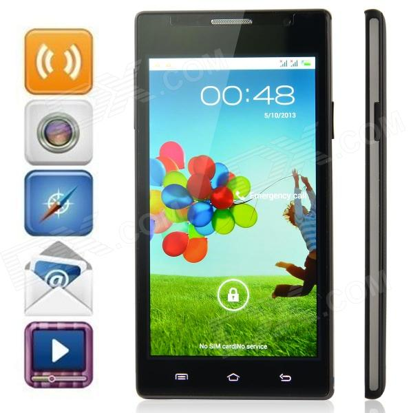 "H3060 Android 4.1.1 MTK6517 Dual Core GSM Bar Phone w/ 5.0"", Quad-Band, 512MB RAM, 4GB ROM - Black"