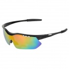 CARSHIRO T9157-3 Outdoor Cycling UV400 Protection Sunglasses Goggles - Black