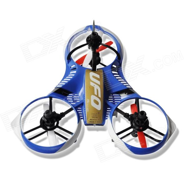 Huawei 3220 4-CH 2.4G R/C Mini UFO Aircraft w/ 6-Axis Gyro - Blue + White