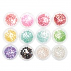 DIY 12-in-1 Nail Art Decoration Stereo Jelly Drill Set - Multicolored