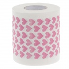 Novelty Heart Pattern Toilet Paper 3-Layer Roll Tissue - White + Pink
