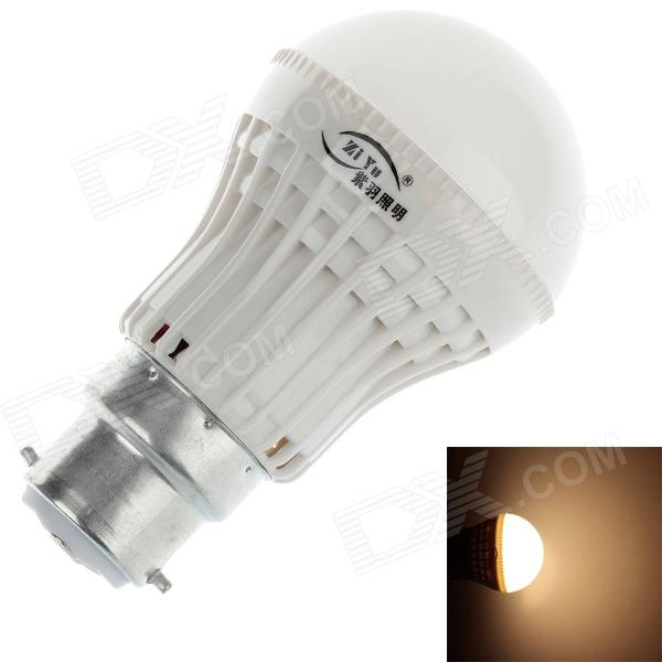 ZIYU ZY-QP-053 B22 3W 200lm 3500K 9 x SMD 2835 LED Warm White Light LED Bulb - White + Silver (220V)