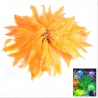 SH189 Artificial Rubber Aquarium Fish Tank Decoration Soft Coral - Orange + Black