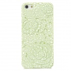 Relief Rose Style Protective Plastic Back Case for Iphone 5 - Green