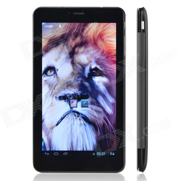 "F819 7"" MTK8317 Duad Core Android 4.1 Tablet PC w/ Wi-Fi / TF / SIM / 4GB ROM - Black + Grey"