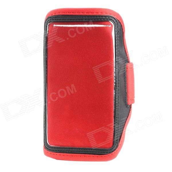 Sports Gym PVC + Neoprene Armband Case for Samsung Galaxy Note 3 N9005 / N9002 - Red + Black клип кейс icover illuminator для apple iphone se 5 5s матовый желтый