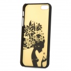 Pretty Girl Style Protective Plastic Back Case for Iphone 5 - Yellow + Black