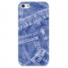 Retro Jeans Style Protective Plastic Back Case for Iphone 5 - Blue