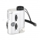 ZnDiy-BRY 9593 30~60X Mini Portable Optical Microscope w/ LED / Flashlight - White