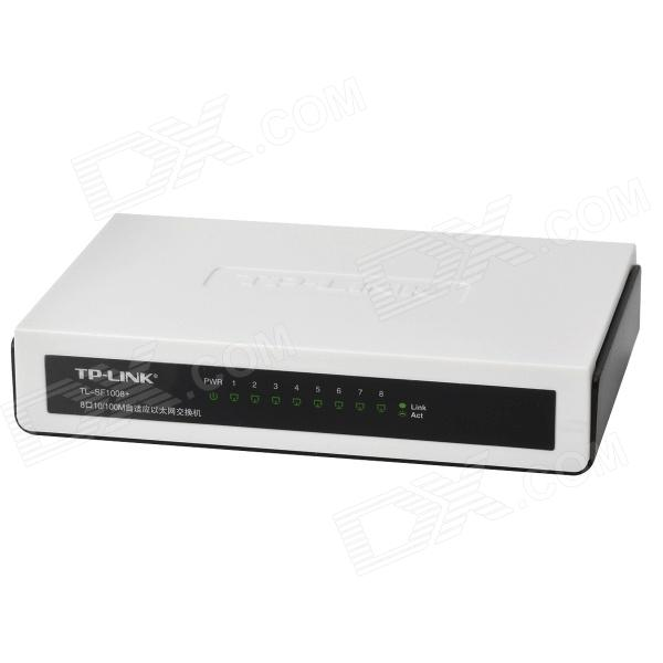 TP-LINK SF1008+ 10/100Mbps 8-Port Adaptive Ethernet Switch - White + Black + Yellow принт сервер tp link tl ps110p 1utp 10 100mbps parallel port