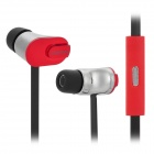 SONUN SN-iP2 3.5mm In-Ear Earphone w/ Microphone + Clip - Red + Black