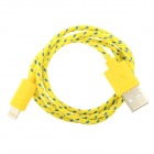 USB to 8-Pin Lightning Data/Charging Cable for iPhone 5 / iPad Mini / iPod Touch 5 / Nano 7 - Yellow