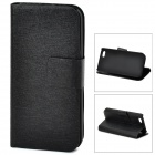 Protective PU Leather + ABS Case for iPhone 5c - Black