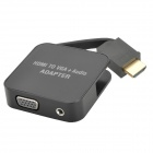 HDMI to VGA + Audio Adapter - Black
