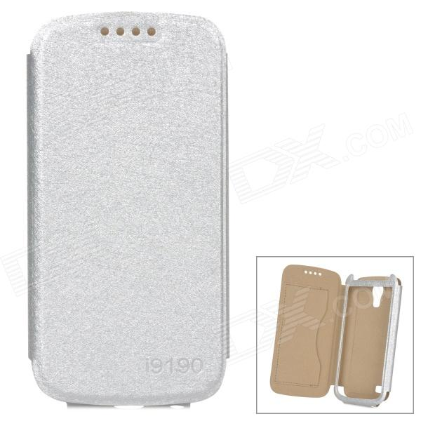 Stylish Protective PU Leather Case for Samsung i9190 - Silver