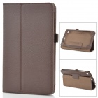 Stylish Pattern Litchi Flip-Funda de cuero PU w ​​/ soporte para Google Nexus 7 II - Brown