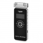 Saff SF-800 Digital Voice Recorder w/ 4 Microphone - Black + Silver White (8GB)
