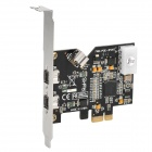 DV Capture Card PCIE-1394B Expansion Card Supports Mac OS - Black + Silver