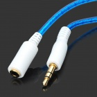 3.5mm Male to Female Audio Adapting / Converting Cable - Blue (100cm)