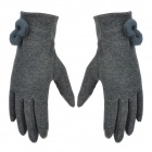 Capacitive Screen Touch Warp-knitted Velvet Gloves for Iphone / Tablet + More - Grey + Silvery White