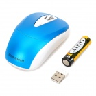 Motospeed G380 Fashion USB 2.4GHz Wireless 800~1600dpi Optical Mouse w/ Receiver - Blue + White