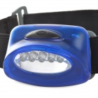 M-830 5-LED 7-Mode Red Headlamp / Signal Light - Blue + Grey + Black (3 x AAA)