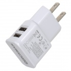 Universal Dual USB AC Charger for IPHONE, IPAD, IPOD - White (US Plug)