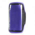 Sports Gym PVC + Neoprene Armband Case for Sony Xperia Z Ultra XL39h - Purple + Black