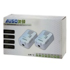 AUSO 200Mbps Powerline Ethernet Adapter (2er Pack / 110-240V)