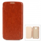 PUDINI WB-i9295R Stylish Flip-open PU Leather Case for Samsung Galaxy S4 Active (i9295) - Brown