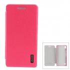 USAMS Stylish Flip-open PU Leather Case for Huawei Ascend P6 - Deep Pink