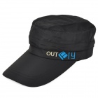 Outdoor Quick Drying Polyester Detachable Cap - Black