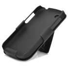 Protective Plastic Back Case + Clip Back Case for BlackBerry Q10 - Black