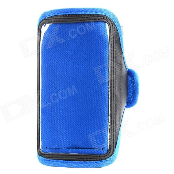 цена Sports Gym PVC + Neoprene Armband Case for Samsung Galaxy Note 3 N9005 / N9002 - Blue + Black