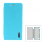 USAMS Stylish Flip-open PU Leather Case for Huawei Ascend P6 - Light Blue