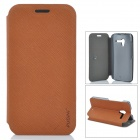 PUDINI WB-Moto X Stylish Flip-open PU Leather Case w/ Holder for Motorola X Phone - Brown