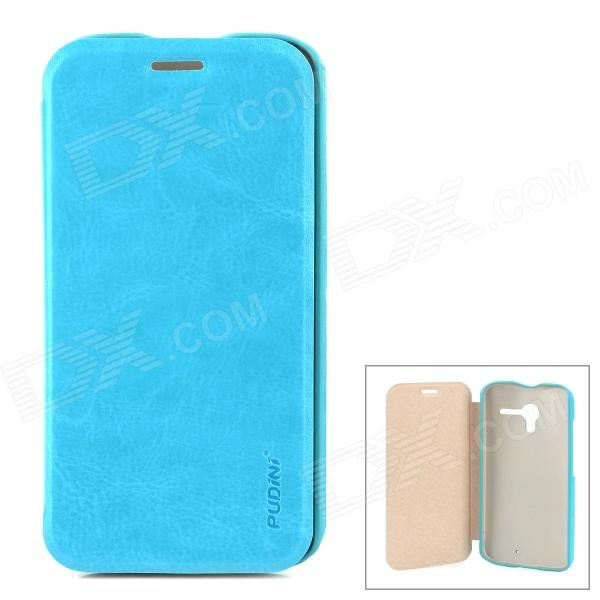 PUDINI WB-Moto X Stylish Flip-open PU Leather Case w/ Holder for Motorola X Phone - Blue panasonic hc v770 black цифровая видеокамера