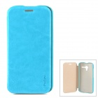 PUDINI WB-Moto X Stylish Flip-open PU Leather Case w/ Holder for Motorola X Phone - Blue