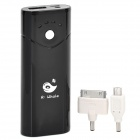 R-Whale I6 3.7V 5200mAh Li-ion Battery w/ Flashlight / LED for iPhone 5 + Adapters - Black